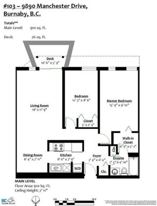 """Photo 19: 103 9890 MANCHESTER Drive in Burnaby: Cariboo Condo for sale in """"Brookside Court"""" (Burnaby North)  : MLS®# R2509254"""