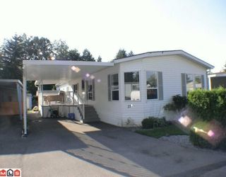 """Photo 1: 27A 24330 FRASER Highway in Langley: Otter District Manufactured Home for sale in """"LANGLEY GROVE ESTATES"""" : MLS®# F1002102"""