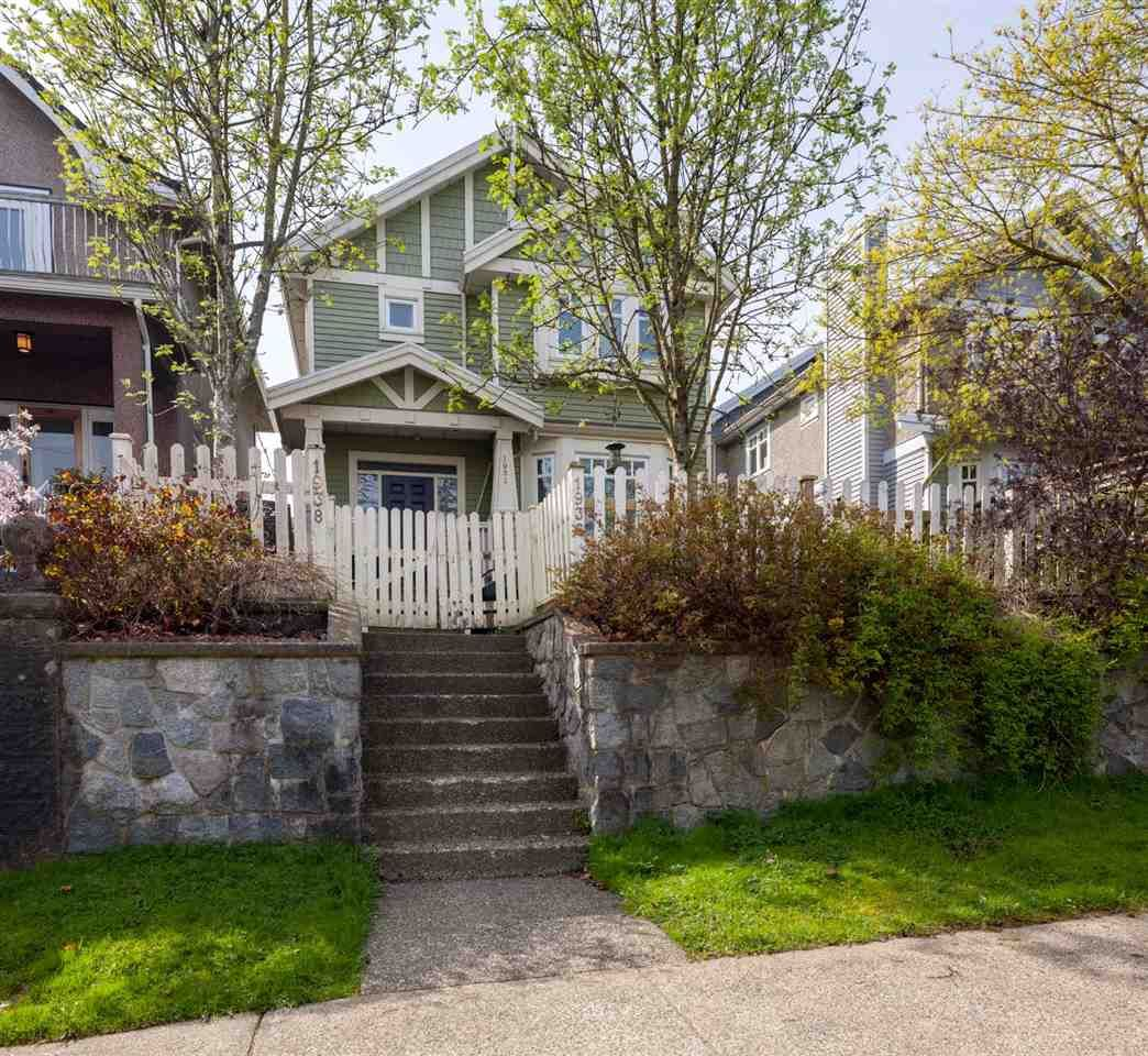 """Main Photo: 1936 ADANAC Street in Vancouver: Hastings 1/2 Duplex for sale in """"Commercial Drive"""" (Vancouver East)  : MLS®# R2259910"""