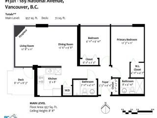 """Photo 39: 1301 189 NATIONAL Avenue in Vancouver: Downtown VE Condo for sale in """"SUSSEX"""" (Vancouver East)  : MLS®# R2590311"""