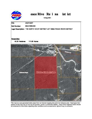 """Main Photo: DL 1093A CANYON Drive: Hudsons Hope Land for sale in """"HUDSON'S HOPE"""" (Fort St. John (Zone 60))  : MLS®# R2618730"""