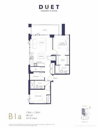 """Photo 2: 401 2501 SPRUCE Street in Vancouver: Fairview VW Condo for sale in """"DUET Broadway and Spruce"""" (Vancouver West)  : MLS®# R2577571"""