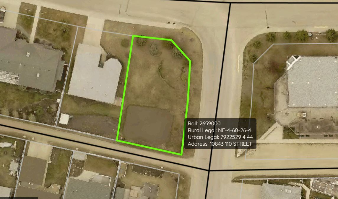 Main Photo: 10843 110 Street: Westlock Vacant Lot for sale : MLS®# E4223231