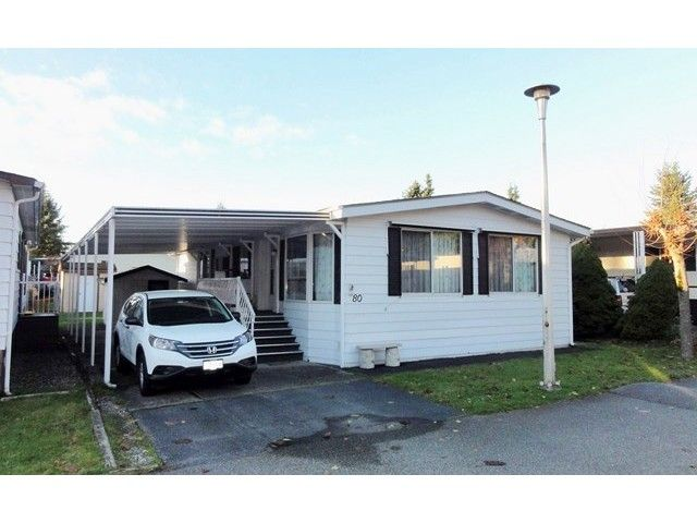 "Main Photo: 80 8560 156TH Street in Surrey: Fleetwood Tynehead Manufactured Home for sale in ""West Villa Estates"" : MLS®# F1436439"