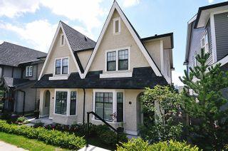 "Photo 1: 5 3432 GISLASON Avenue in Coquitlam: Burke Mountain 1/2 Duplex for sale in ""ROXTON"" : MLS®# R2103480"