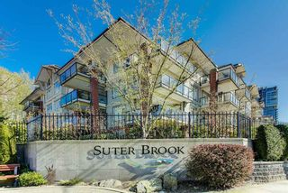 "Photo 1: 107 100 CAPILANO Road in Port Moody: Port Moody Centre Condo for sale in ""Suterbrook"" : MLS®# R2573975"
