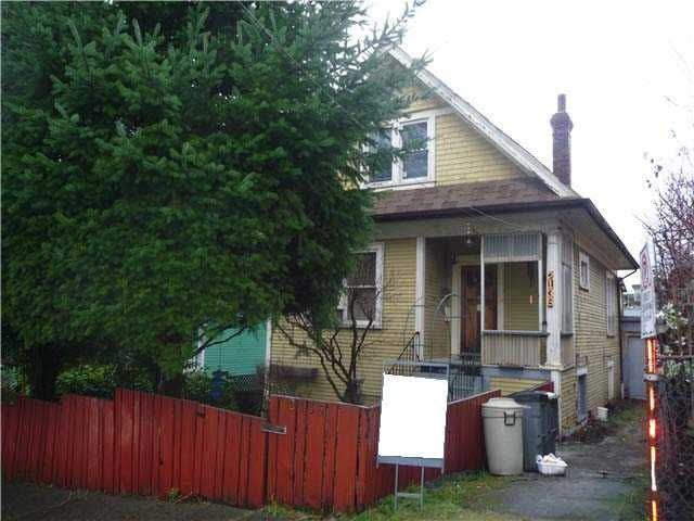 Main Photo: 2136 PRINCE EDWARD STREET in Vancouver: Mount Pleasant VE House for sale (Vancouver East)  : MLS®# V1111277