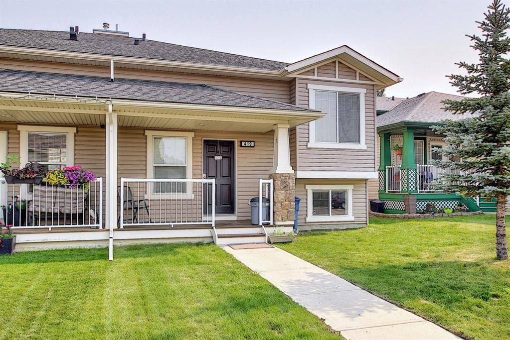 Main Photo: 419 Stonegate Rise NW: Airdrie Semi Detached for sale : MLS®# A1131256