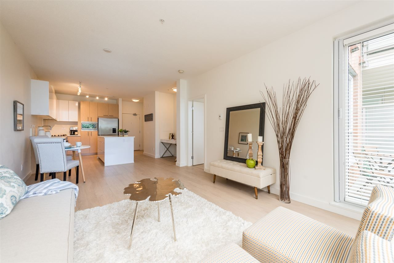 """Main Photo: 105 1621 HAMILTON Avenue in North Vancouver: Mosquito Creek Condo for sale in """"Heywood on the Park"""" : MLS®# R2393282"""