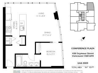 """Photo 19: 2804 438 SEYMOUR Street in Vancouver: Downtown VW Condo for sale in """"CONFERENCE PLAZA"""" (Vancouver West)  : MLS®# R2317789"""