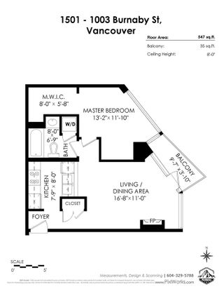 """Photo 21: 1501 1003 BURNABY Street in Vancouver: West End VW Condo for sale in """"MILANO"""" (Vancouver West)  : MLS®# R2555583"""