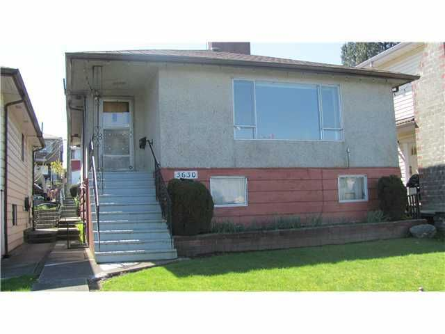 Main Photo: 3630 TANNER Street in Vancouver: Collingwood VE House for sale (Vancouver East)  : MLS®# V821442