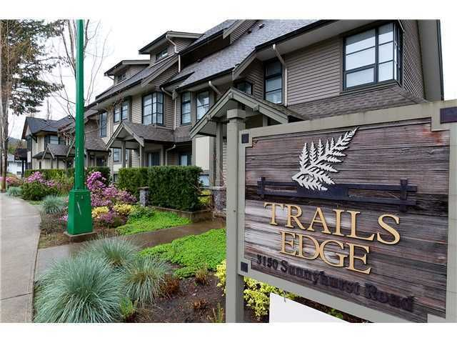 """Main Photo: 12 3150 SUNNYHURST Road in North Vancouver: Lynn Valley Townhouse for sale in """"Trails Edge"""" : MLS®# V1001134"""