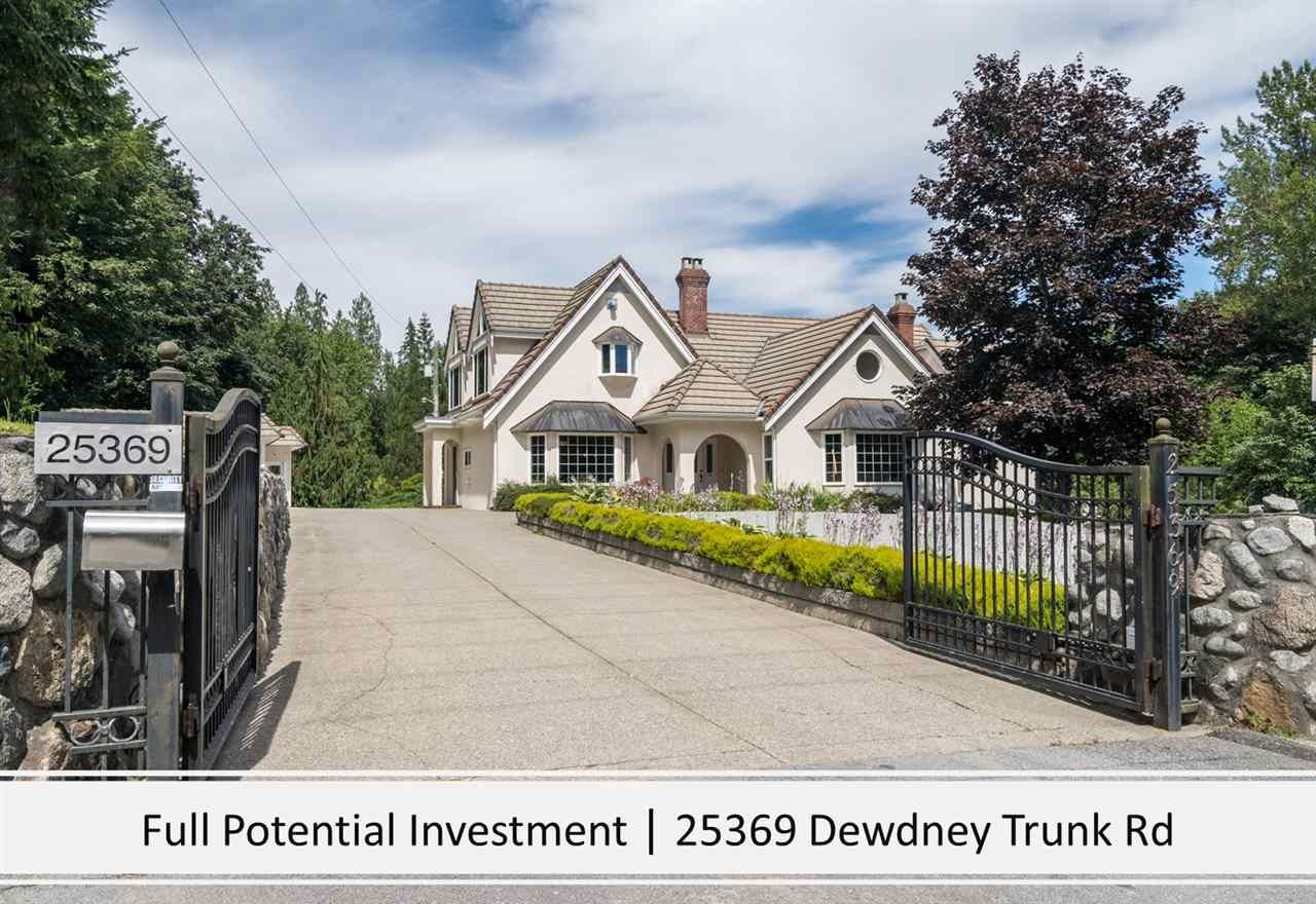 Main Photo: 25369 DEWDNEY TRUNK Road in Maple Ridge: Websters Corners House for sale : MLS®# R2545344