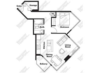 """Photo 10: # 1507 1212 HOWE ST in Vancouver: Downtown VW Condo for sale in """"1212 HOWE"""" (Vancouver West)  : MLS®# V894254"""