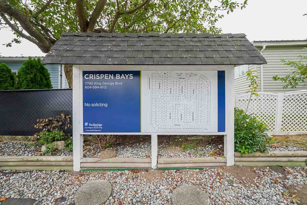 """Photo 25: Photos: 49 7790 KING GEORGE Boulevard in Surrey: East Newton Manufactured Home for sale in """"CRISPEN BAYS"""" : MLS®# R2493696"""