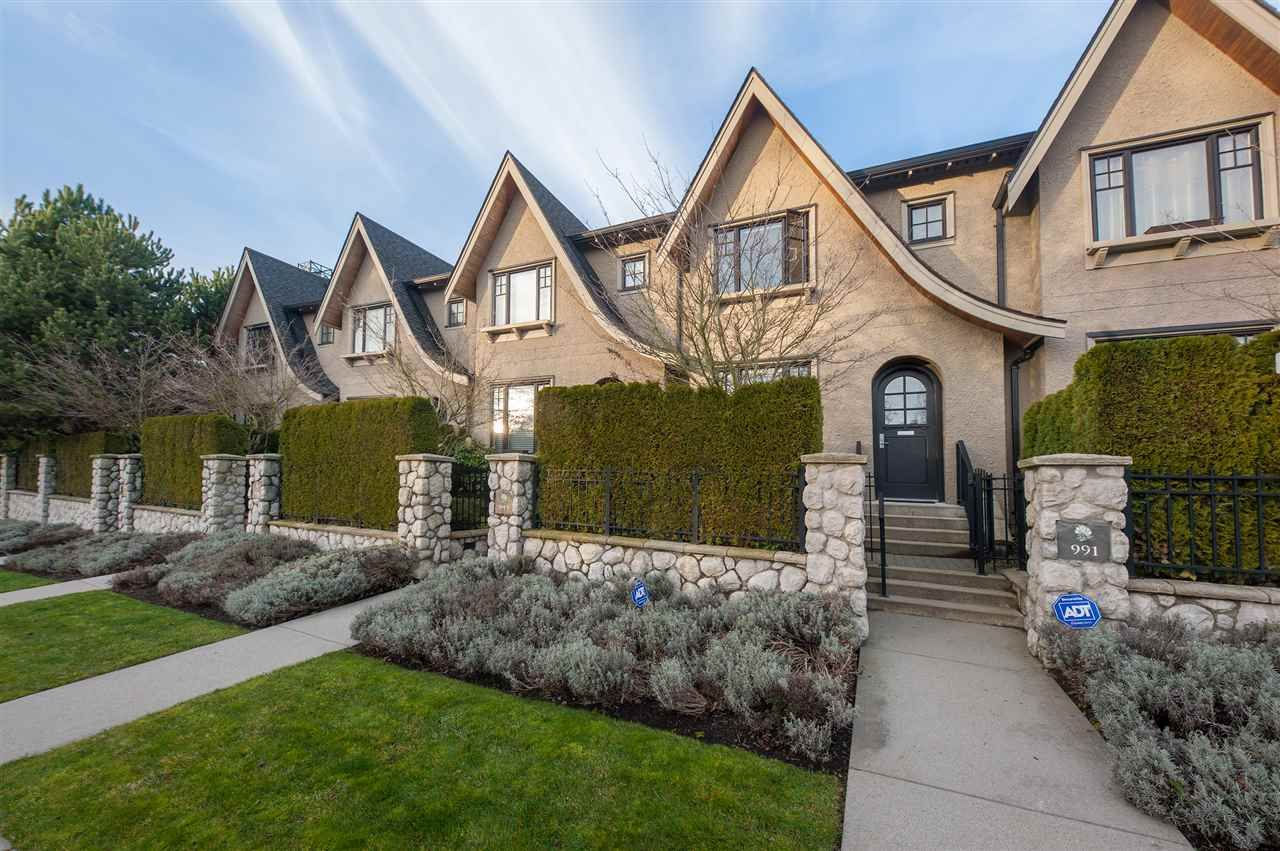 Main Photo: 991 W 38TH AVENUE in Vancouver: Cambie Townhouse for sale (Vancouver West)  : MLS®# R2350357