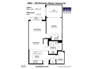 "Photo 8: 902 788 RICHARDS Street in Vancouver: Downtown VW Condo for sale in ""L'HERMITAGE"" (Vancouver West)  : MLS®# V1085842"