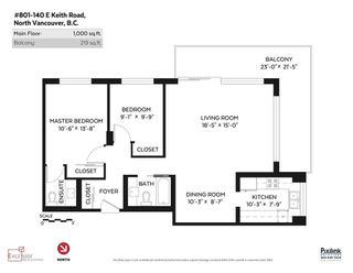"""Photo 20: 801 140 E KEITH Road in North Vancouver: Central Lonsdale Condo for sale in """"Keith 100"""" : MLS®# R2085751"""