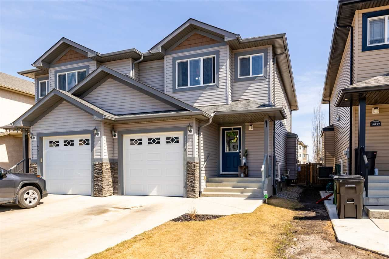 Main Photo: 16719 60 Street in Edmonton: Zone 03 House Half Duplex for sale : MLS®# E4240535