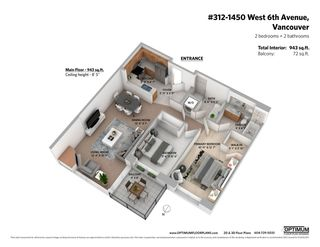 """Photo 22: 312 1450 W 6TH Avenue in Vancouver: Fairview VW Condo for sale in """"VERONA OF PORTICO"""" (Vancouver West)  : MLS®# R2543985"""