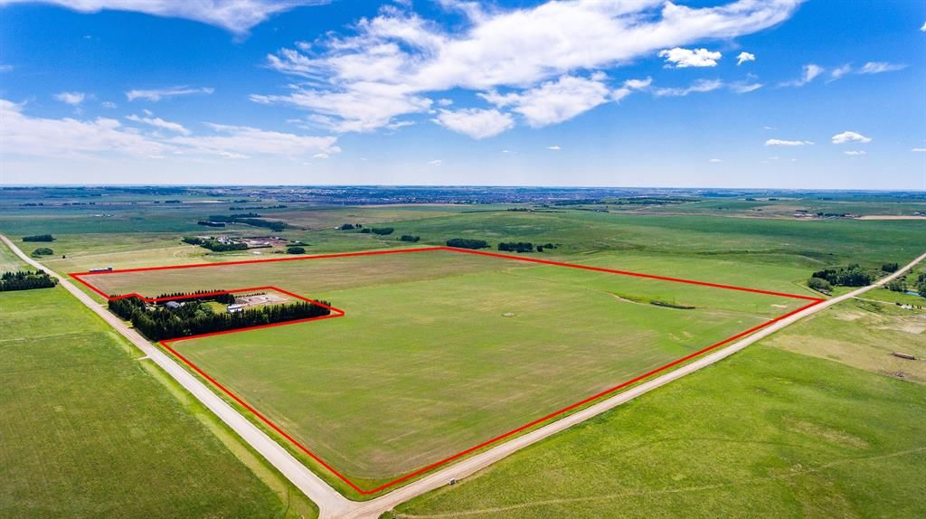 Main Photo: 150.88+/- Acres West of Airdrie in Rural Rocky View County: Rural Rocky View MD Land for sale : MLS®# A1065299