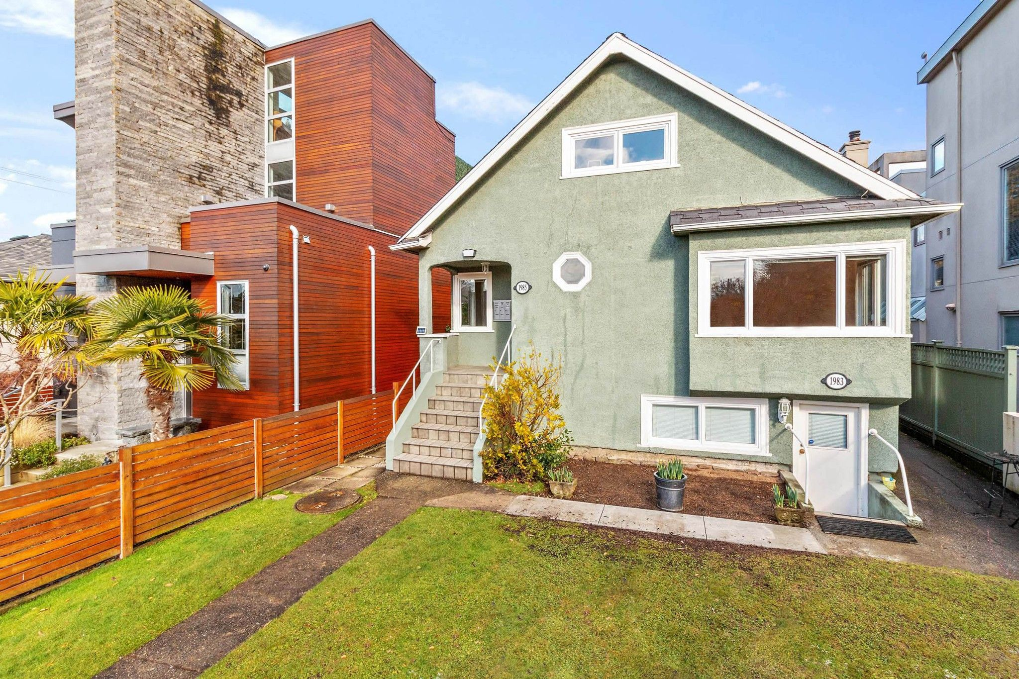 """Main Photo: 1983 - 1985 WHYTE Avenue in Vancouver: Kitsilano Duplex for sale in """"Kits Point"""" (Vancouver West)  : MLS®# R2544328"""