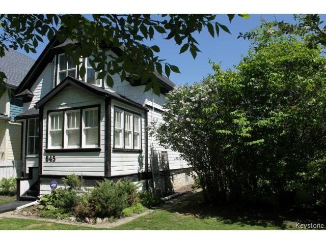 Main Photo: 645 Ashburn Street in WINNIPEG: West End / Wolseley Residential for sale (West Winnipeg)  : MLS®# 1412806