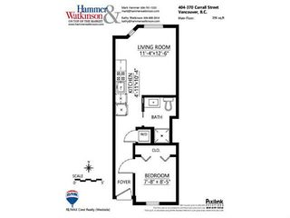 """Photo 12: 404 370 CARRALL Street in Vancouver: Downtown VE Condo for sale in """"21 DOORS"""" (Vancouver East)  : MLS®# V1113227"""