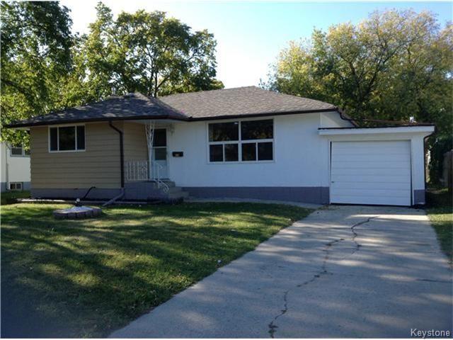 Main Photo: 378 Colvin Avenue in WINNIPEG: North Kildonan Single Family Detached for sale (North East Winnipeg)  : MLS®# 1321361
