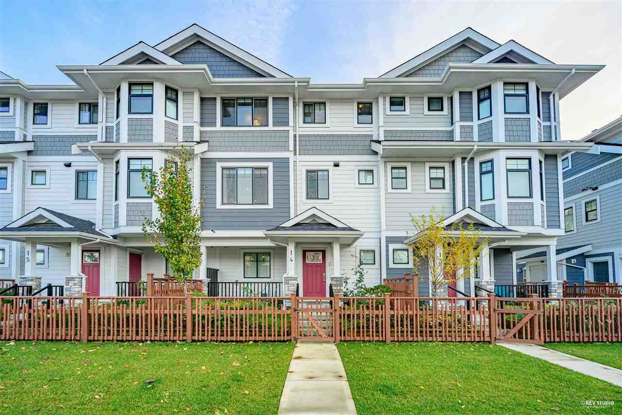 Main Photo: 14 189 WOOD STREET in New Westminster: Queensborough Townhouse for sale : MLS®# R2519615