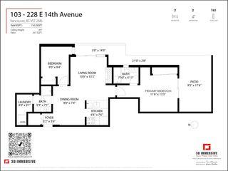 """Photo 24: 103 228 E 14TH Avenue in Vancouver: Mount Pleasant VE Condo for sale in """"DeVa"""" (Vancouver East)  : MLS®# R2576443"""