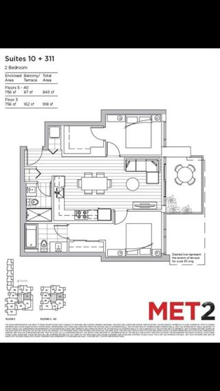 """Photo 1: 3510 6538 NELSON Avenue in Burnaby: Metrotown Condo for sale in """"MET2"""" (Burnaby South)  : MLS®# R2622260"""