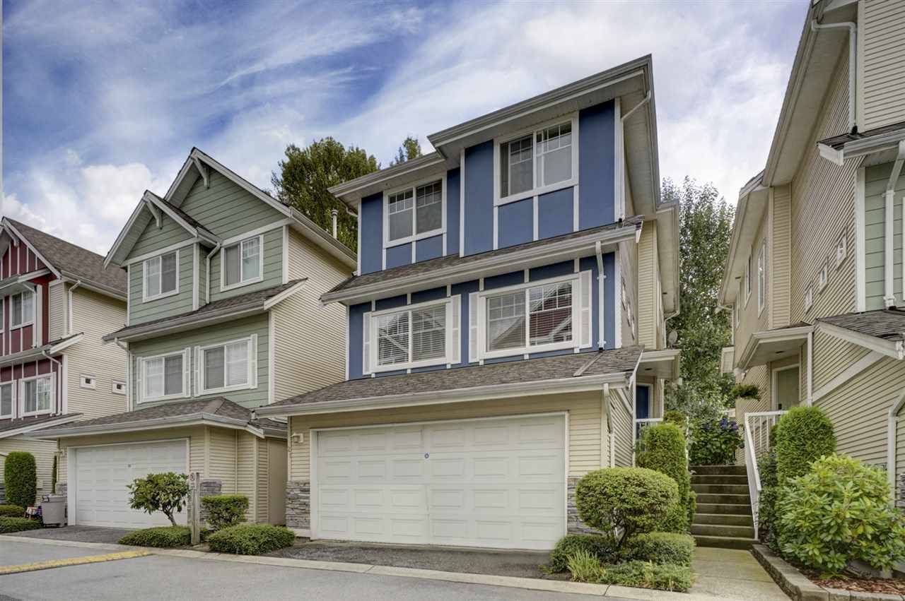 "Main Photo: 21 1108 RIVERSIDE Close in Port Coquitlam: Riverwood Townhouse for sale in ""HERITAGE MEADOWS"" : MLS®# R2396289"
