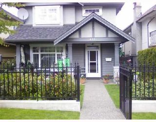 Photo 1: 4331 ALBERT Street in Burnaby: Vancouver Heights 1/2 Duplex for sale (Burnaby North)  : MLS®# V714565