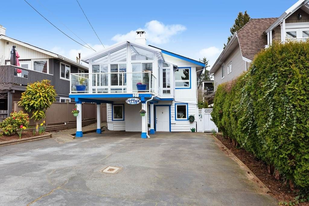 Main Photo: 988 STEVENS Street: House for sale in White Rock: MLS®# R2557973