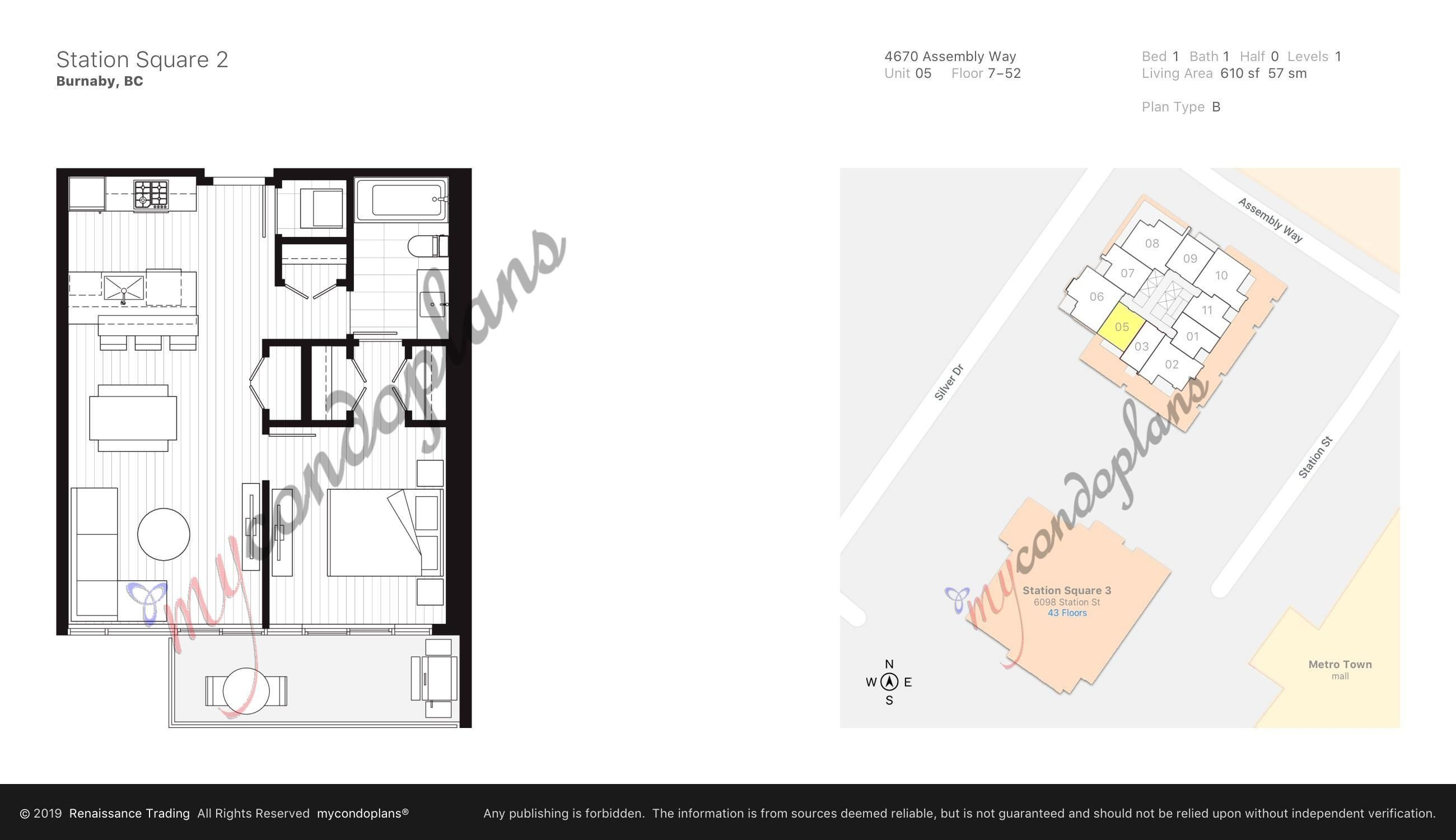 """Main Photo: 2205 4670 ASSEMBLY Way in Burnaby: Metrotown Condo for sale in """"Station Square"""" (Burnaby South)  : MLS®# R2625336"""