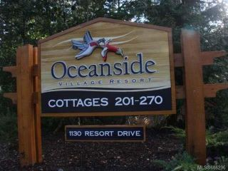Photo 1: 234 1130 RESORT DRIVE in PARKSVILLE: PQ Parksville Row/Townhouse for sale (Parksville/Qualicum)  : MLS®# 686296
