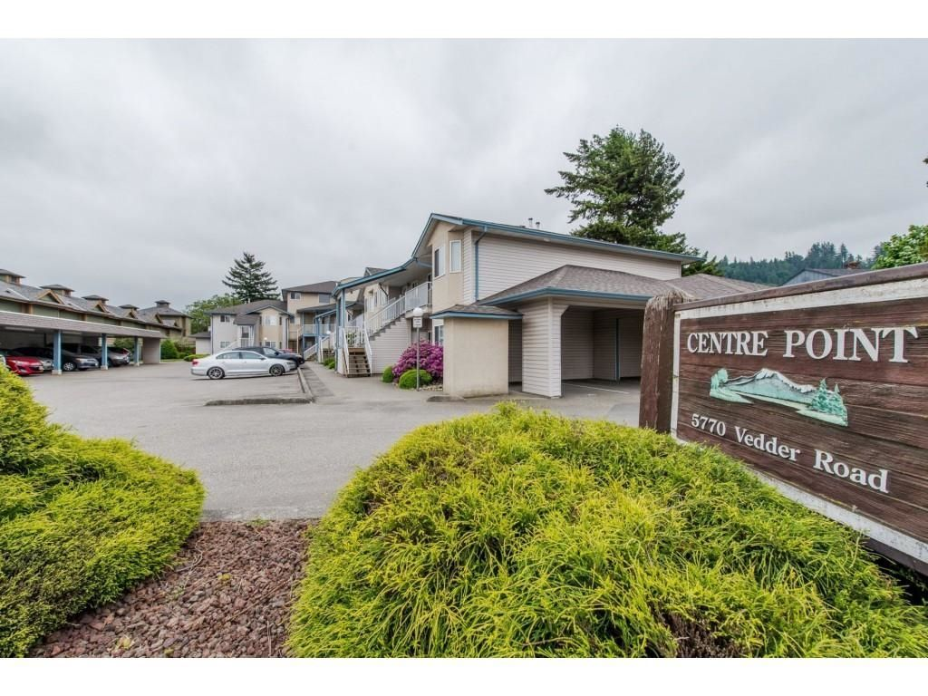 """Main Photo: 16 5770 VEDDER Road in Chilliwack: Vedder S Watson-Promontory Townhouse for sale in """"Centre Point"""" (Sardis)  : MLS®# R2608501"""