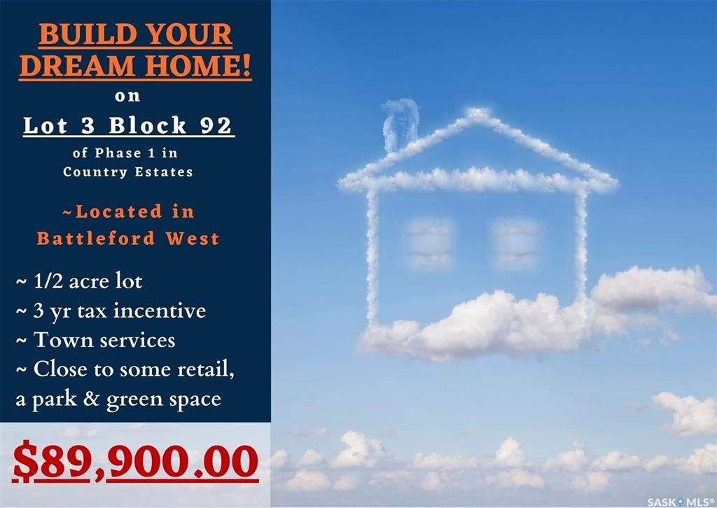 Main Photo: Lot 3 Blk 92 Country Estates Way in Battleford: Telegraph Heights Lot/Land for sale : MLS®# SK842048