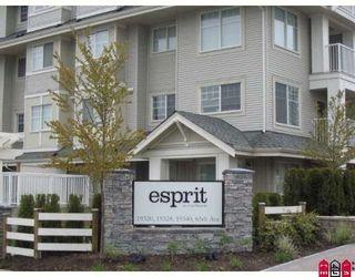 "Photo 1: 306 19320 65TH Avenue in Surrey: Clayton Condo for sale in ""Esprit"" (Cloverdale)  : MLS®# F2813593"