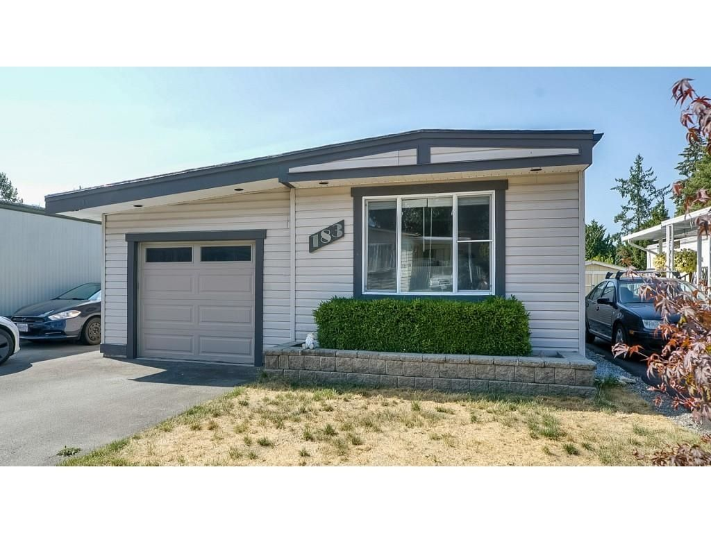 """Main Photo: 183 3665 244 Street in Langley: Aldergrove Langley Manufactured Home for sale in """"Langley Grove Estates"""" : MLS®# R2622427"""