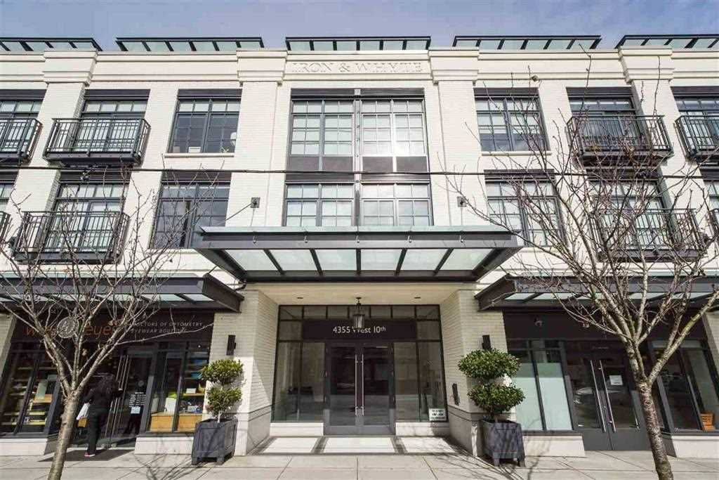 "Main Photo: 205 4355 W 10TH Avenue in Vancouver: Point Grey Condo for sale in ""IRON & WHYTE"" (Vancouver West)  : MLS®# R2355058"