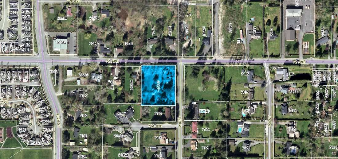 Main Photo: 20390 72ND Avenue in Langley: Willoughby Heights Land for sale : MLS®# R2551603