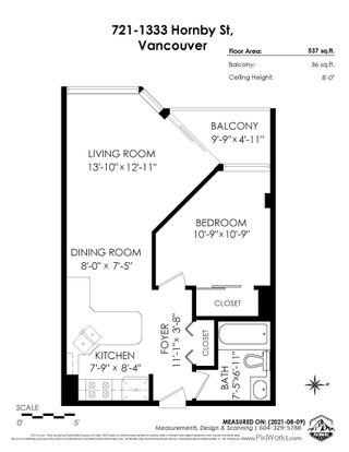 """Photo 25: 721 1333 HORNBY Street in Vancouver: Downtown VW Condo for sale in """"Anchor Point III"""" (Vancouver West)  : MLS®# R2610056"""