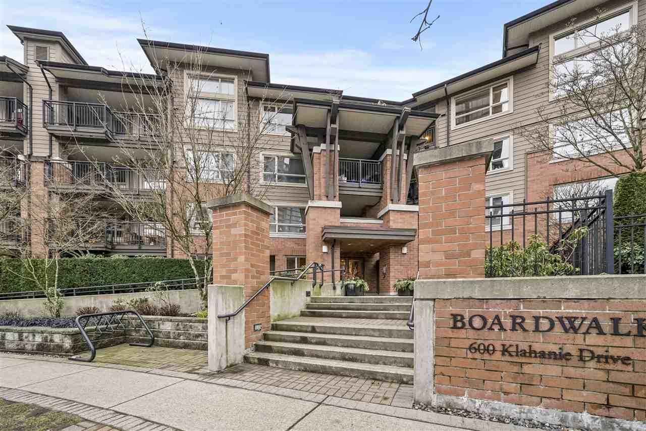 "Main Photo: 304 600 KLAHANIE Drive in Port Moody: Port Moody Centre Condo for sale in ""BOARDWALK"" : MLS®# R2541835"