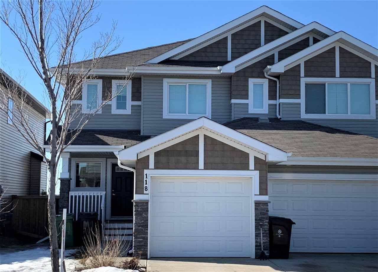 Main Photo: 118 Santana Crescent: Fort Saskatchewan House Half Duplex for sale : MLS®# E4232874