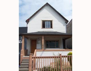 Photo 1: 1827 PANDORA Street in Vancouver: Hastings House for sale (Vancouver East)  : MLS®# V794316