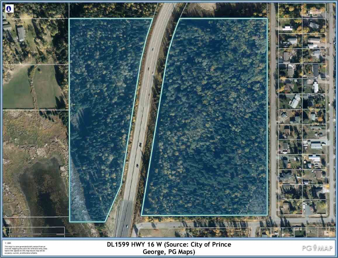 """Main Photo: DL 1599 W 16 Highway in Prince George: Lafreniere Land for sale in """"LAFRENIERE"""" (PG City South (Zone 74))  : MLS®# R2508129"""