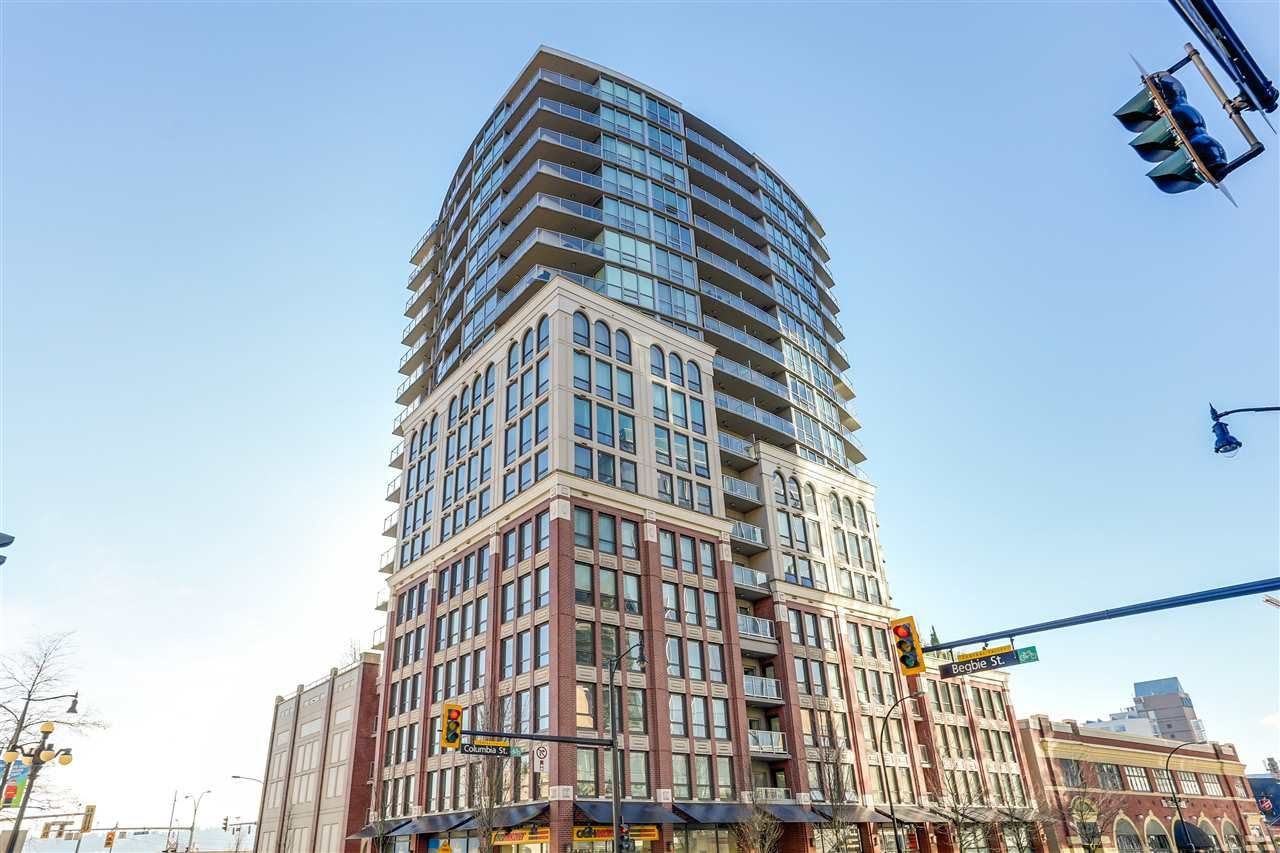 Main Photo: 907 14 BEGBIE STREET in New Westminster: Quay Condo for sale : MLS®# R2226607